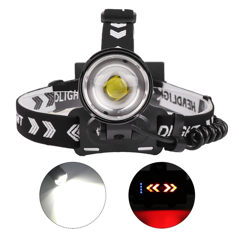 8000 Lumen XHP90 Led Headlamp Fishing Camping High Power Lamp Zoomable USB Torches Flashlight black_1959