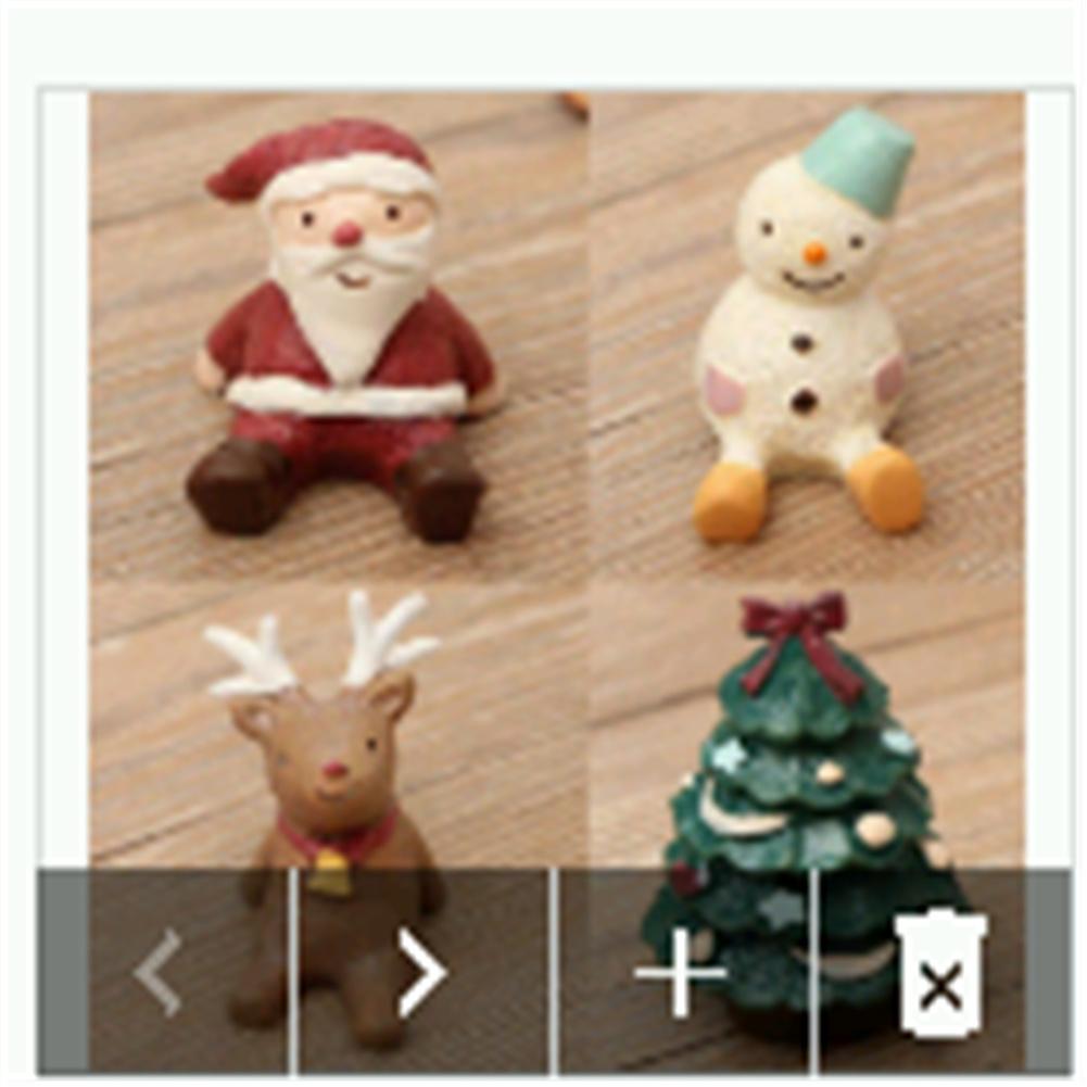 Christmas  Seriers  Decoration Set Handicraft Christmas Micro Landscape Santa Claus Snowman Animal Resin Ornaments Santa Claus, Snowman, Fawn, Christmas Tree with Bowknot