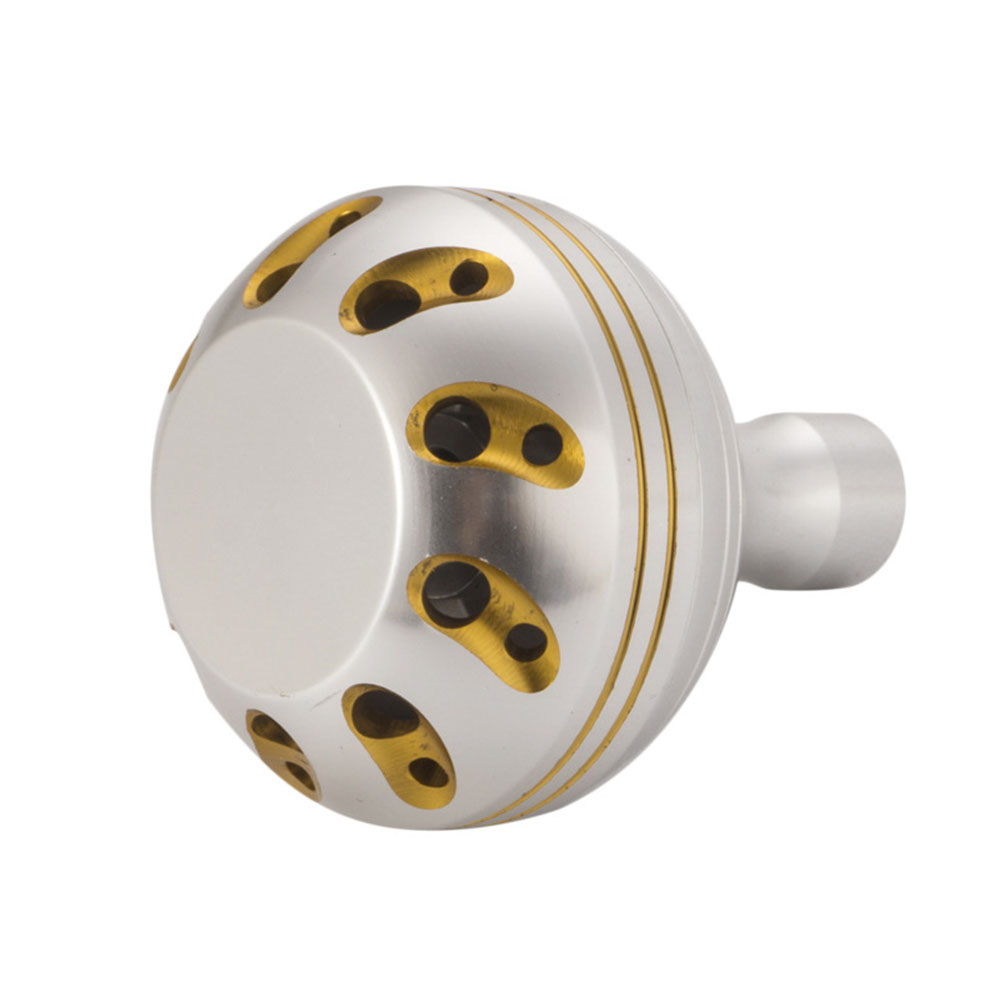 Fishing reel Handle Knob for Spinning reel Type Metal Fishing Reel Handle Knobs Bait Casting Spinning Reels Accessory Silver+Gold T2 grip pills_42MM