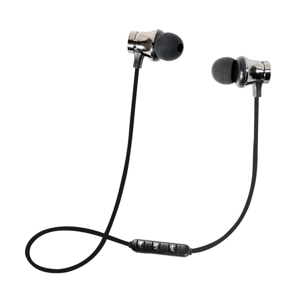 Bluetooth Earphone Magnetic Headphones XT-11 Wireless Sports Headset Bass Music Earpieces with Mic Headset for Samsung Gun color