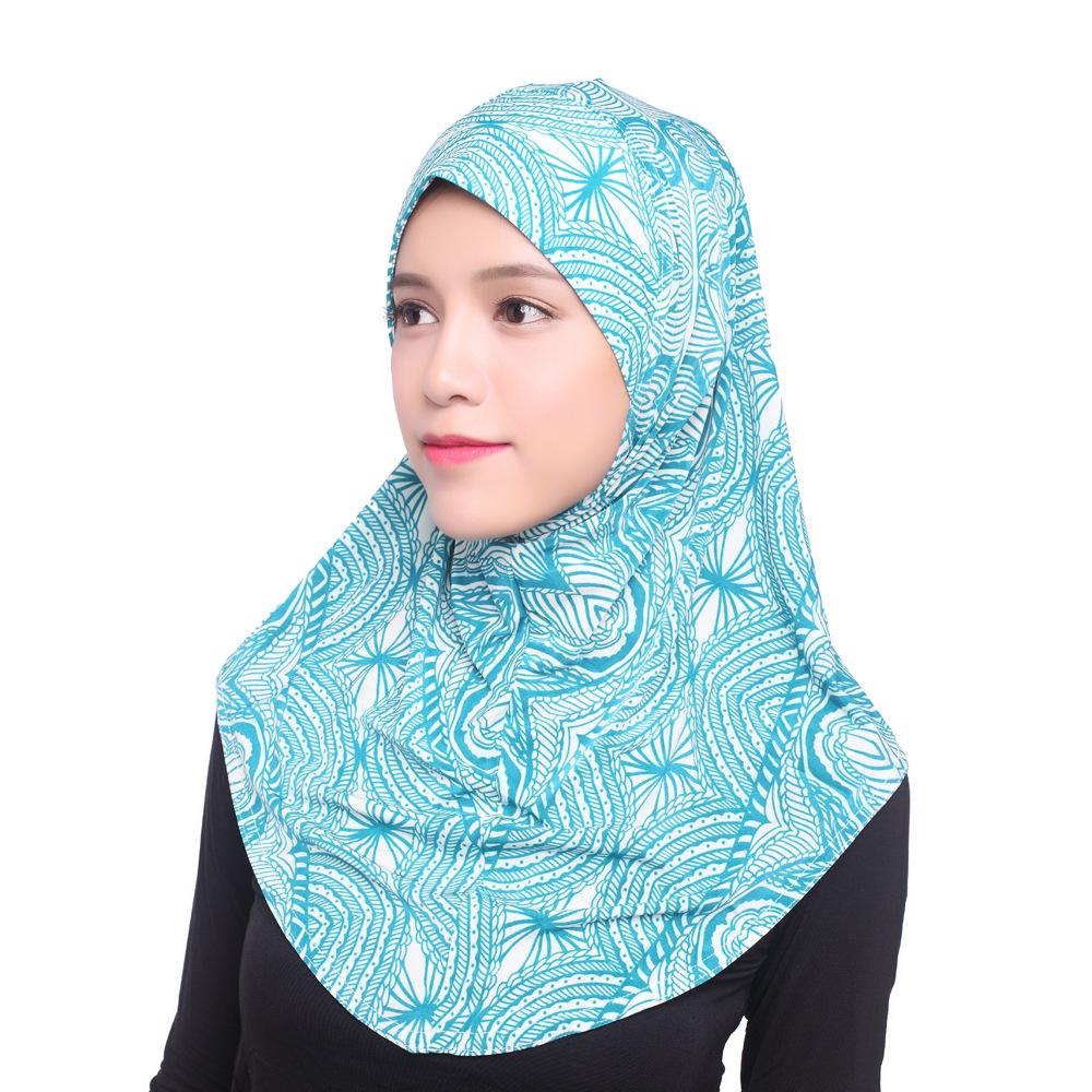 Muslim Islamic Jersey Turban Women Kerchief