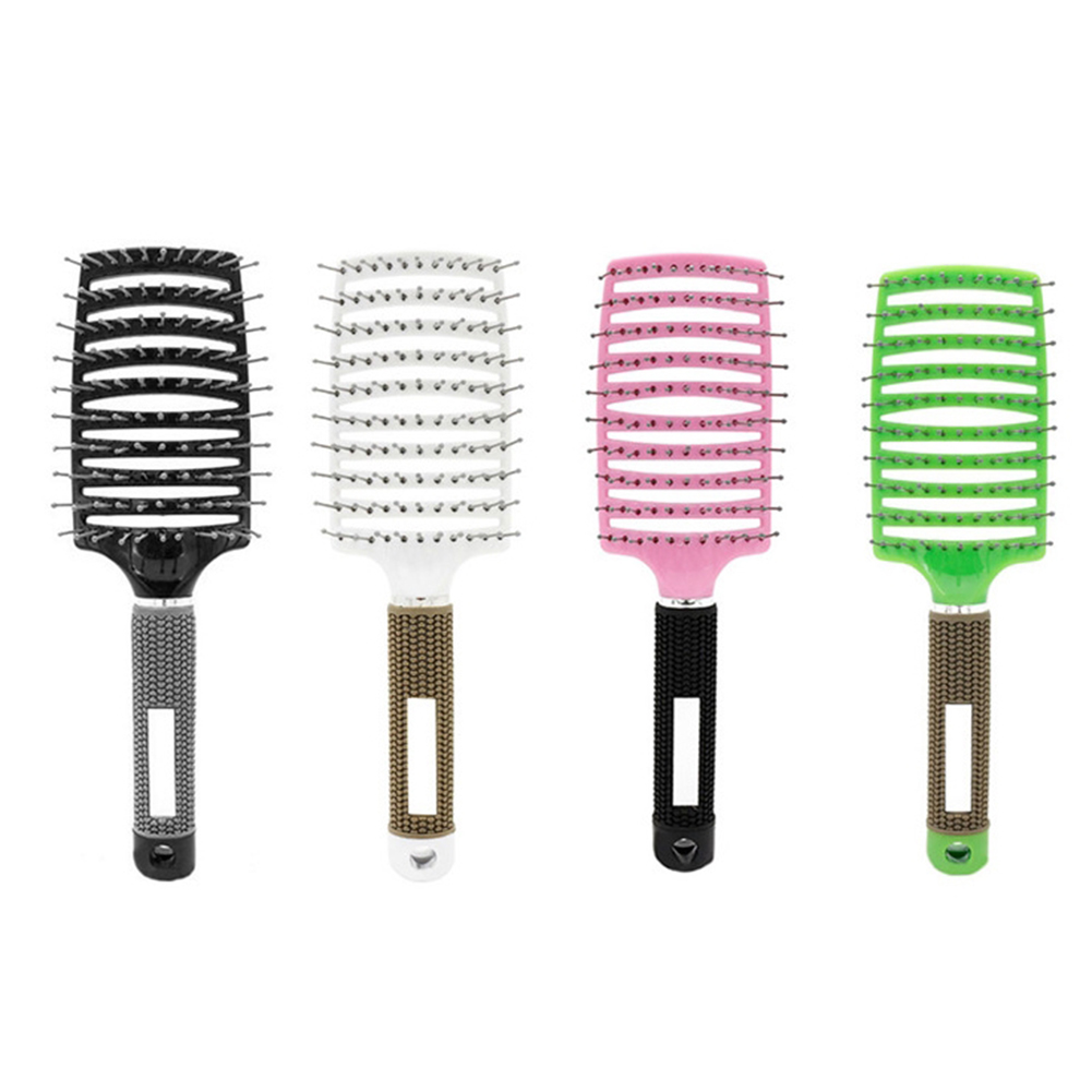 Curved Comb Massage Comb for Curly Hair Ribs Comb Black_ordinary type