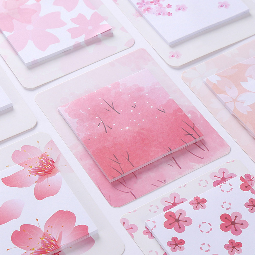 Romantic Cherry Pattern Printing Sticky Note