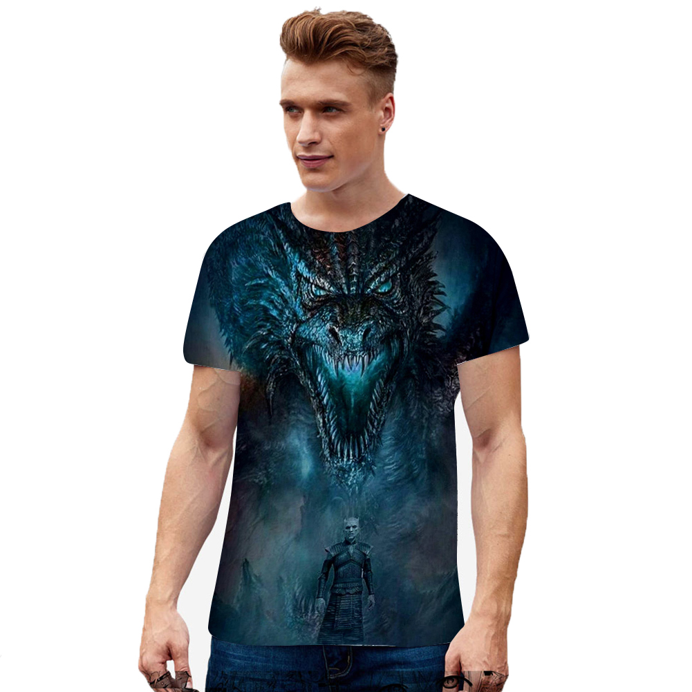 Summer Fashion Short Sleeve Game of Thrones 3D Digital Printing T-shirt for Men Women D style_S