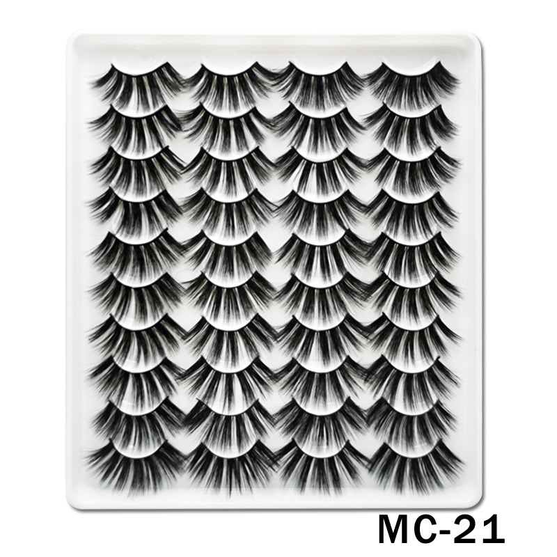 6D Mink False Eyelashes Handmade Extension Beauty Makeup False Eyelashes MC-22