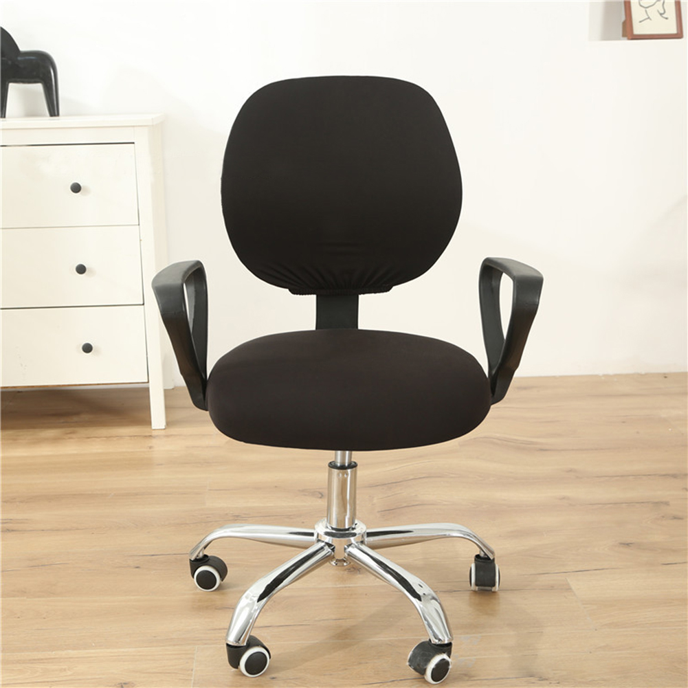 Computer Office Chair  Covers Stretch Rotating Chair Slipcovers Cover black