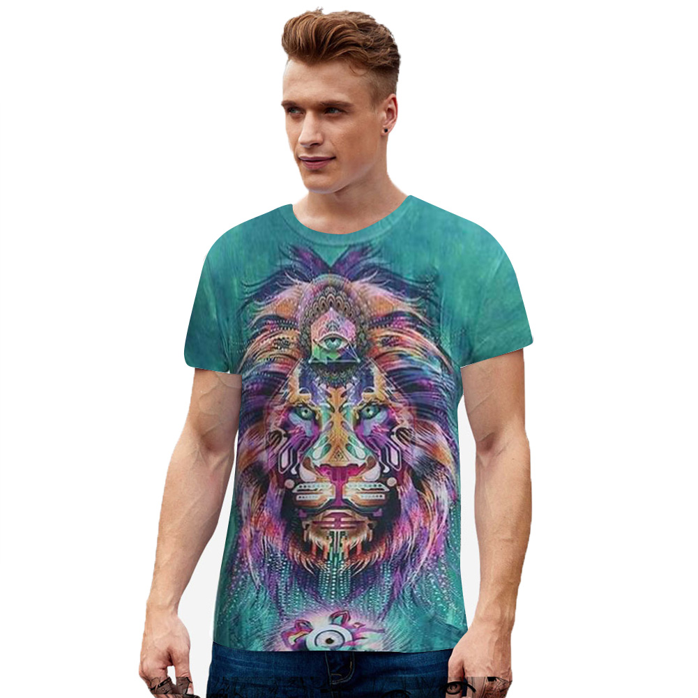 Unisex 3D Digital Printing Pattern Hip-hop Style Fashion Tops