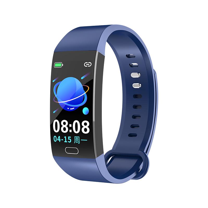 RD11 Smart Bracelet Band Measuring Pressure Clock Cardio Fitness Watch Heart Rate Activity Tracker Sports Smartwatch blue
