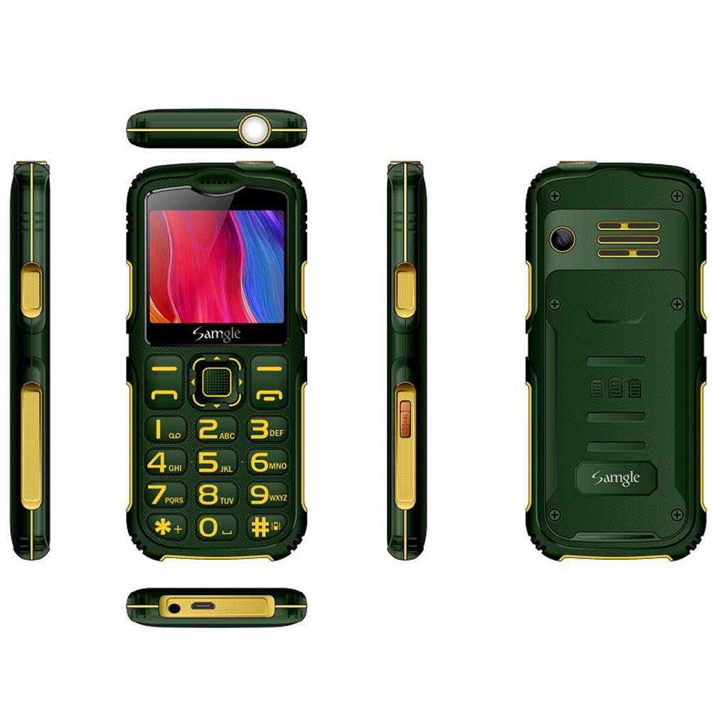 Samgle-S3 Big Button Mobile  Phone Keyborad Phone For Elderly GSM / WCDMA Mobile Phone Green  (US Plug)