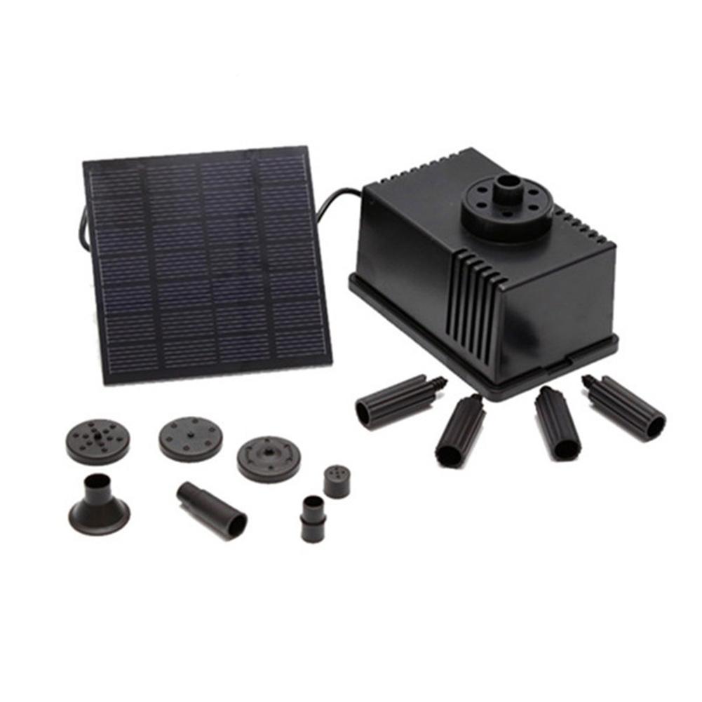 Brushless Solar Water  Pump Power Panel Kit Fountain Pool Garden Watering Black