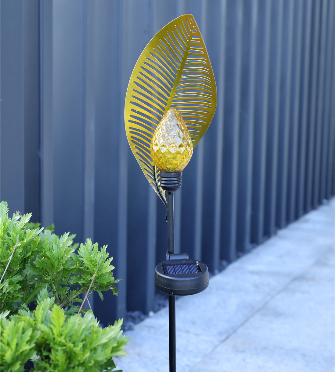 LED Solar Powered Waterproof Light Leaf Shape Outdoor Garden Decor Landscape Lawn Lamp warm light_Solar Leaf