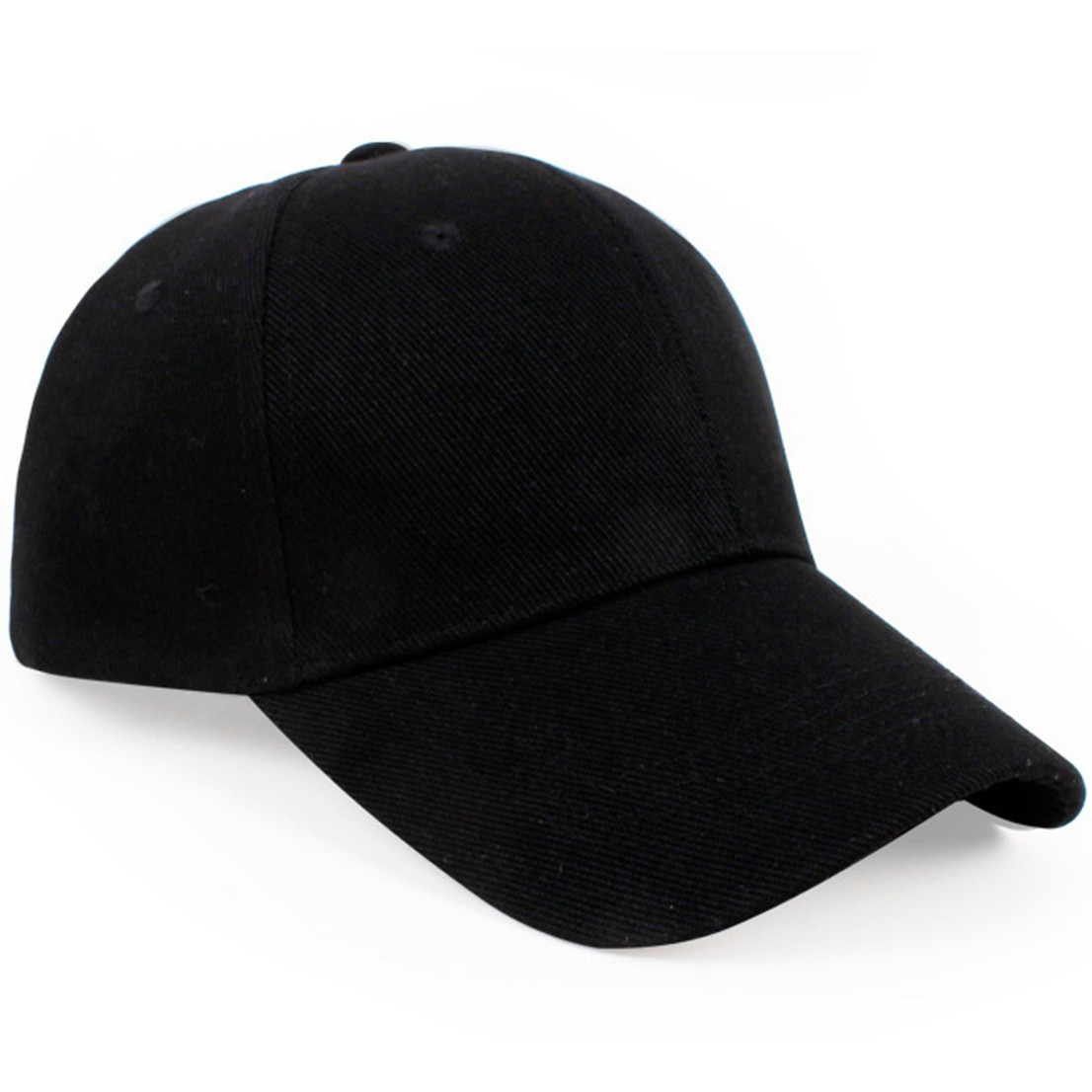 Women Lady Men Plain Baseball Cap Blank Hat Solid Color Snapback Adjustable