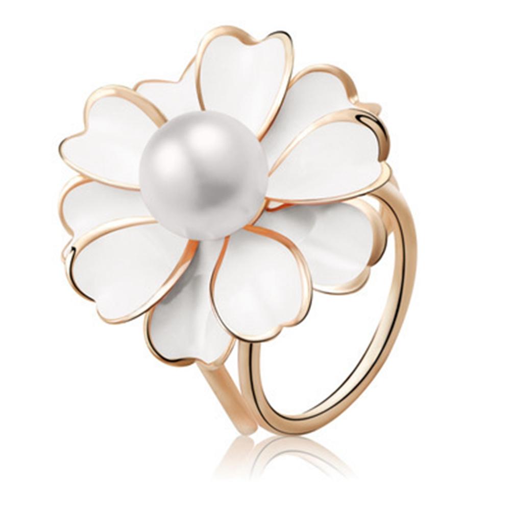 Women Fashion Elegant Three Ring Scarf Clip Rhinestone Flower Scarf Buckle Ring