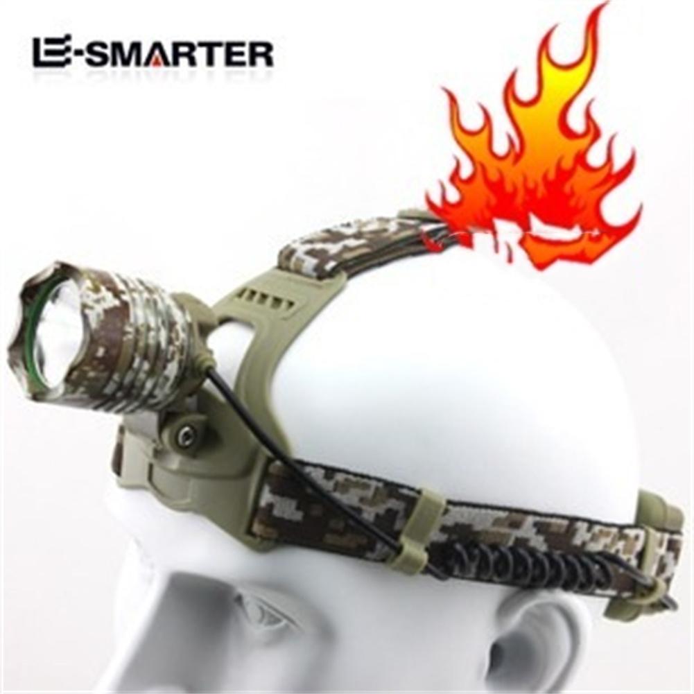 Long-range Headlight Rechargeable LED Fishing Headlight Miner's Lamp camouflage