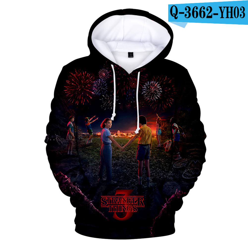 Stranger Things 3D Color Printing Hooded Sweatshirts for Men Women Adults Q-3662-YH03 A_XXL