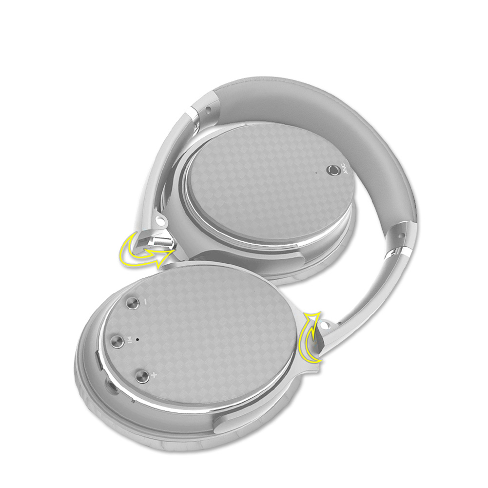 Head-mounted Bluetooth Headphone 3D Low Bass Stereo Over-Ear Wireless Headset Silver