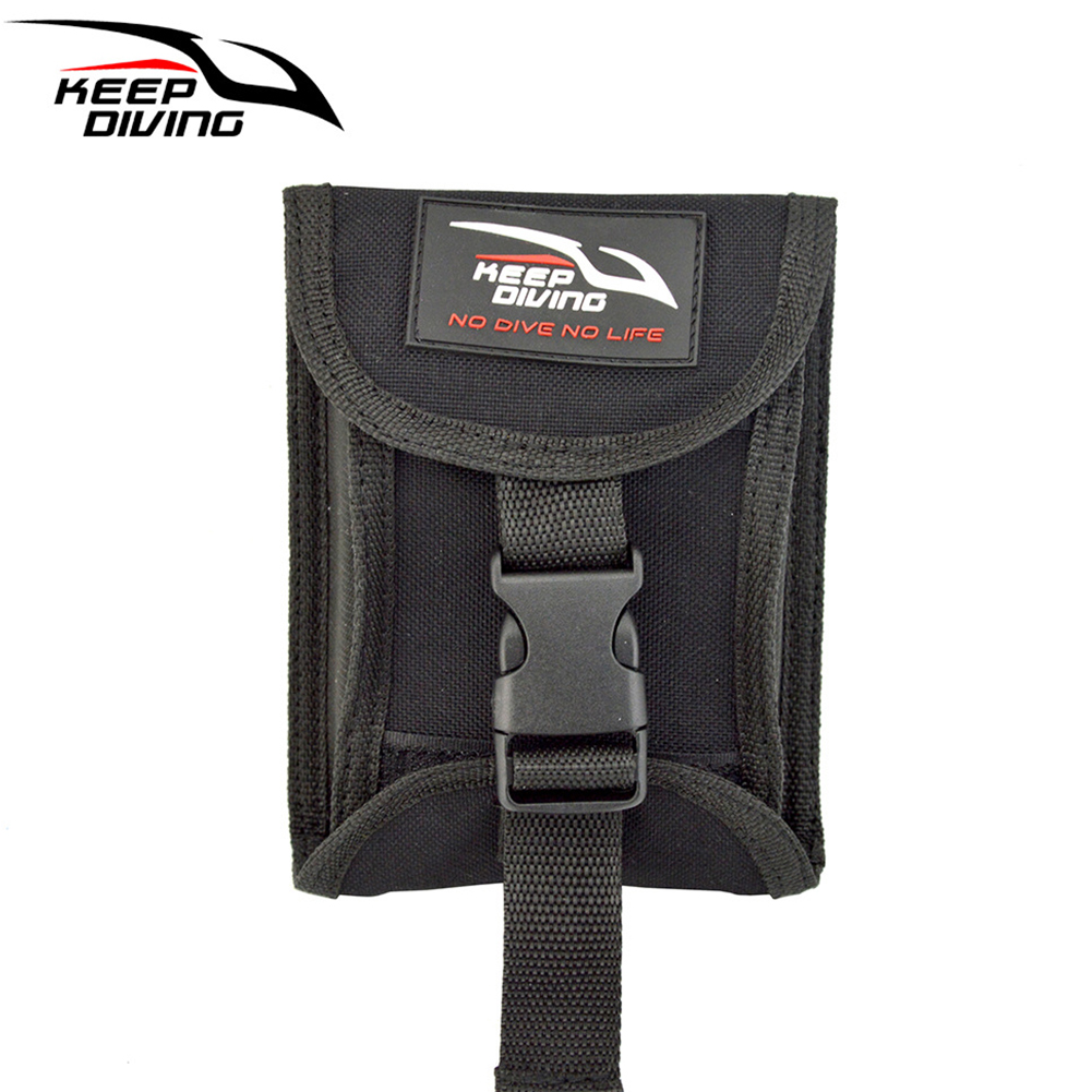 3KG(6.6LBS) Two Sides Open Up Scuba Diving Weight Belt Pocket with Quick Release Buckle Accommodate 3KG/6lb of Lead Weight black_3KG