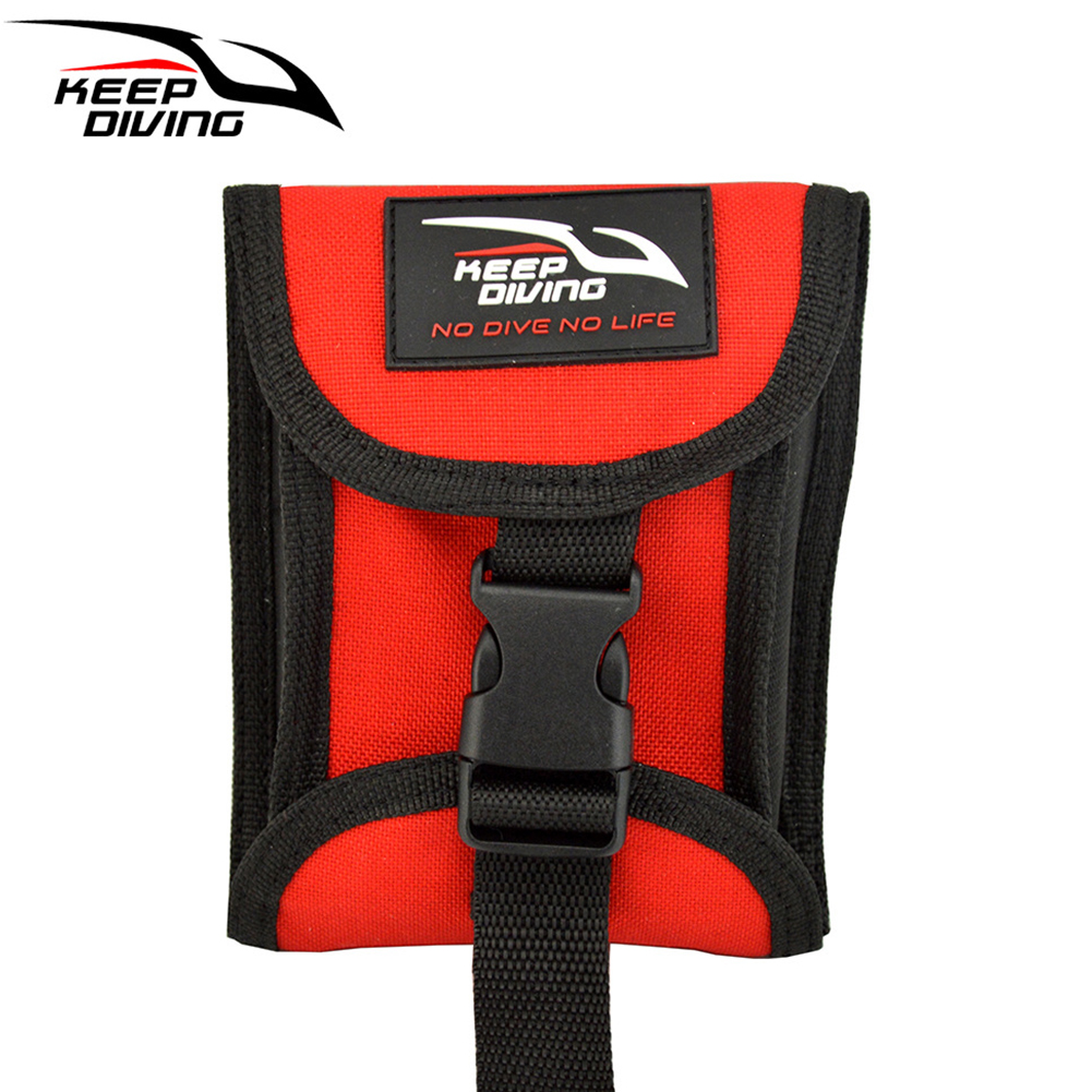 3KG(6.6LBS) Two Sides Open Up Scuba Diving Weight Belt Pocket with Quick Release Buckle Accommodate 3KG/6lb of Lead Weight red_3KG