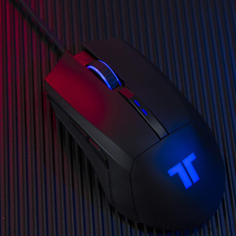[US Direct] Original TRITTON TM200 Wired Gaming Mouse with Backlight, Side Buttons, 4 Levels DPI Adjustment Ergonomic Gaming Mouse Black