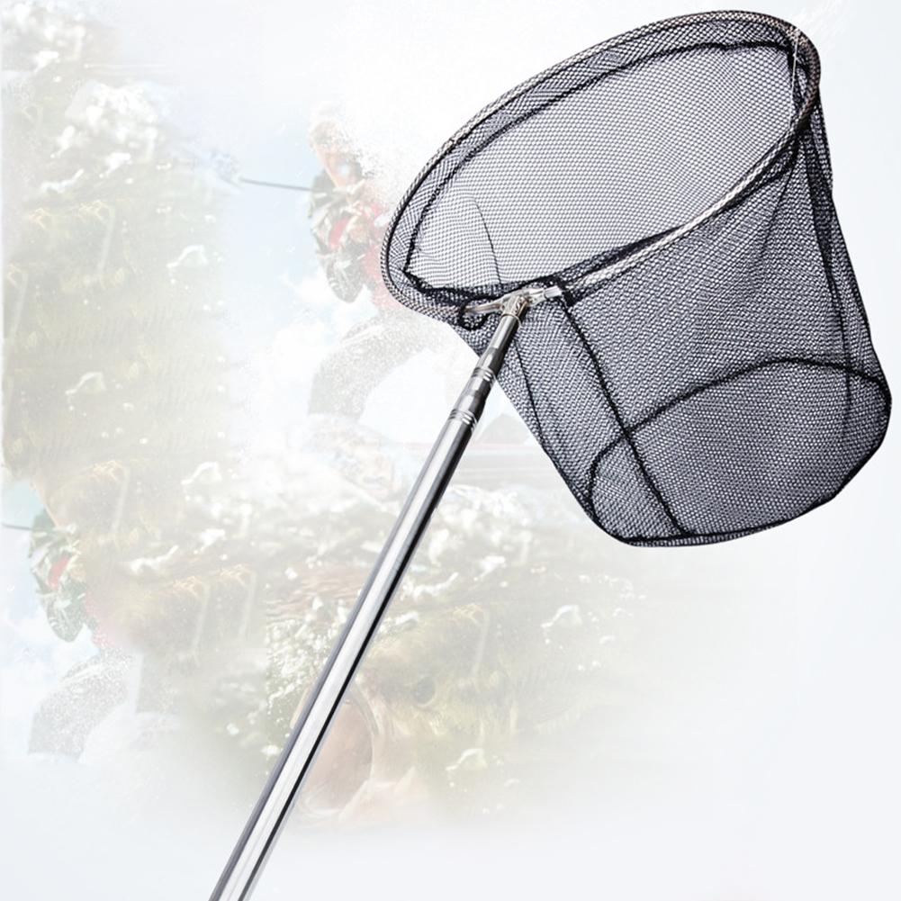 Extendable Positioning Stainless Steel Fishing Net Foldable Dip Net Fishing Net Pocket 1.8M