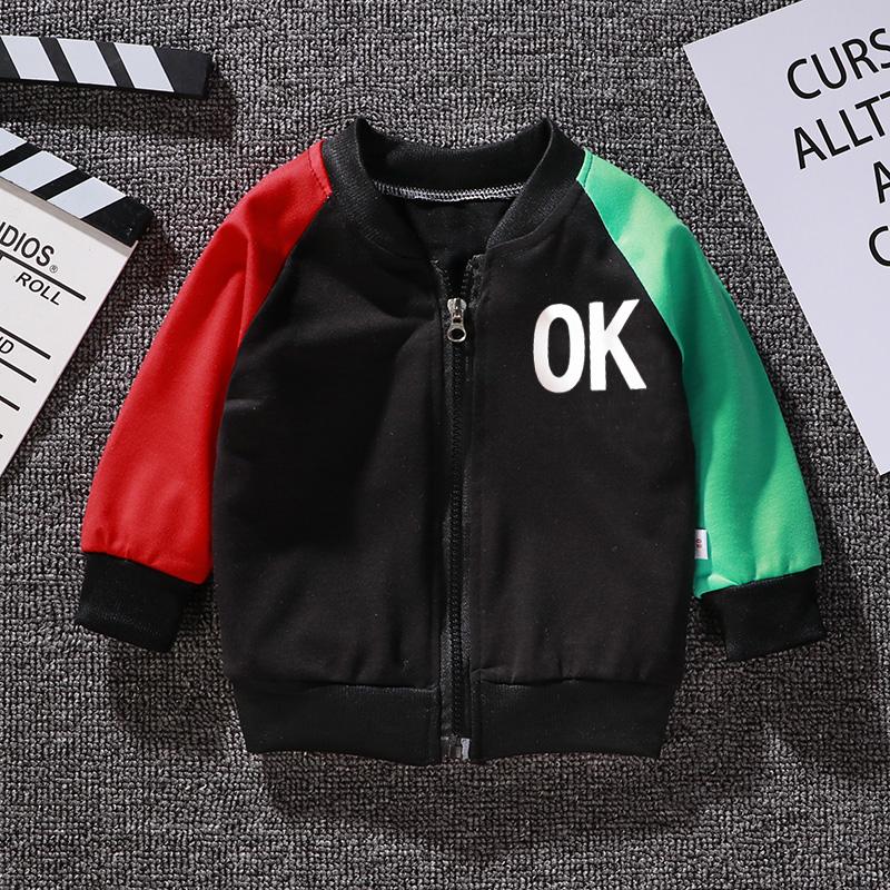 Kids Girls Boys Medium Long Color Matching Jacket Coat M black_110cm