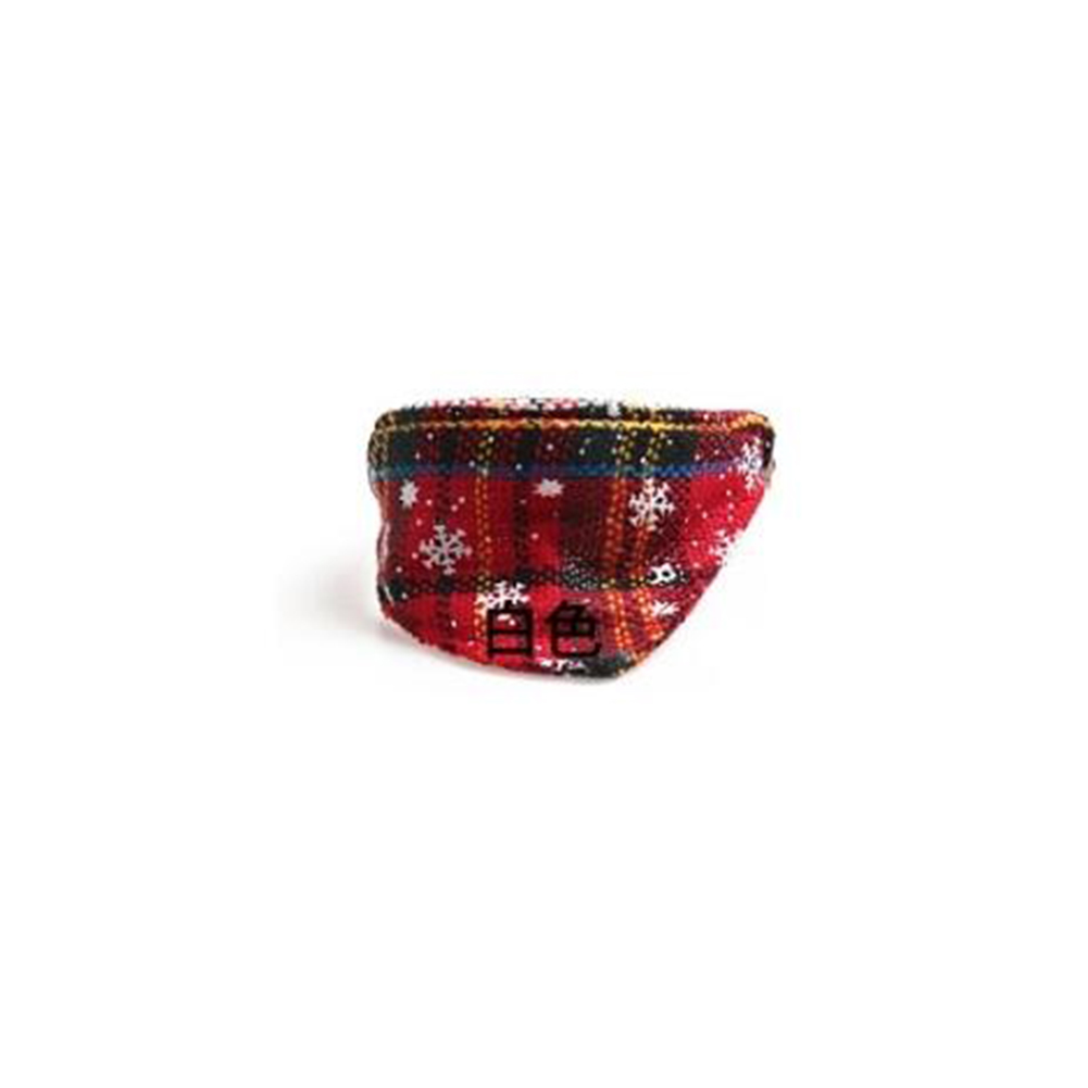 Pet  Collar Dog Bowknot Triangle Scarf Dog Cat Neck Belt Chrimats Christmas Style Pet Supplies red