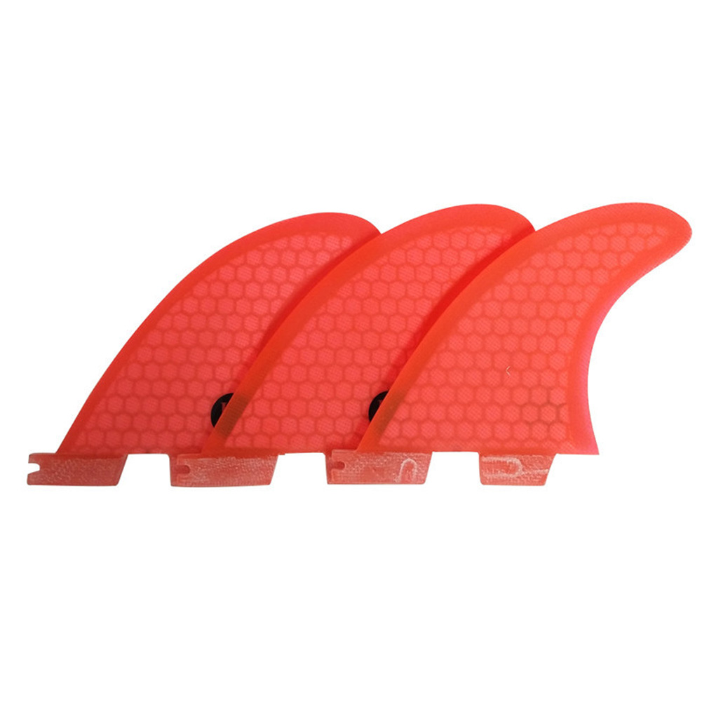 Surf Fins FCS 2 G3/G5/G7 Fins Honeycomb Fiberglass Fins Surf Surfboard Fin Orange red_G5