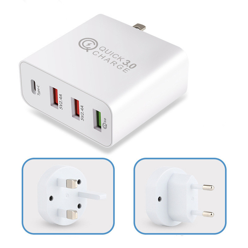 USB Travel Charger 36W Quick Charge Type C for Samsung iPhone Huawei Tablet Fast Wall Adaptor AU Plug