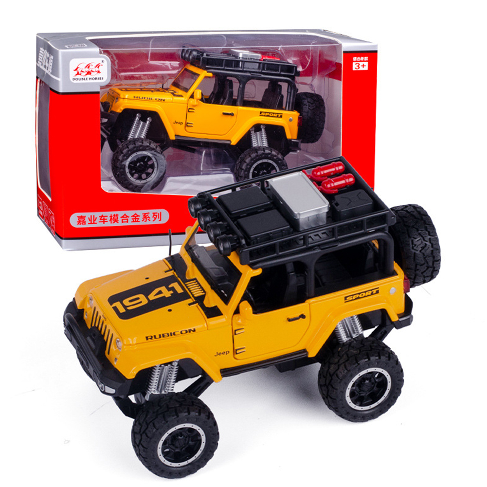 1:32 Doors Open Simulate Alloy Car Modeling Sound Light Toy with Big Wheels for Kids Collection yellow