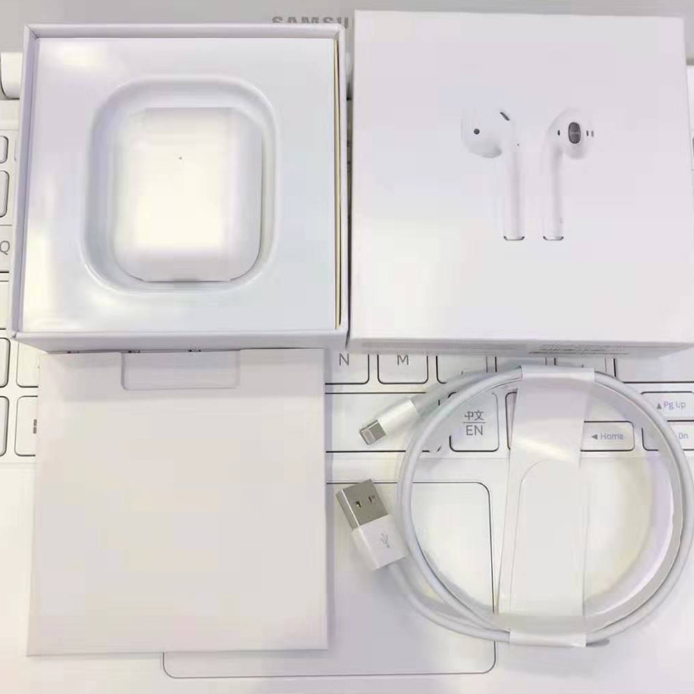 Wireless Earphones Air 2 Bluetooth 5.0 Earbuds Pops-up Wireless Charger Stereo Headsets  white