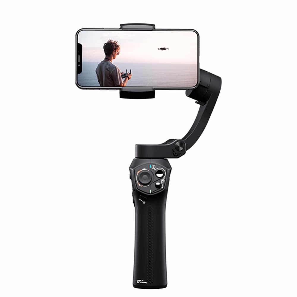 Universal Foldable Pocket-sized Handheld Gimbal Stabilizer for 11 Pro XS MAX Smartphone  Standard suit black