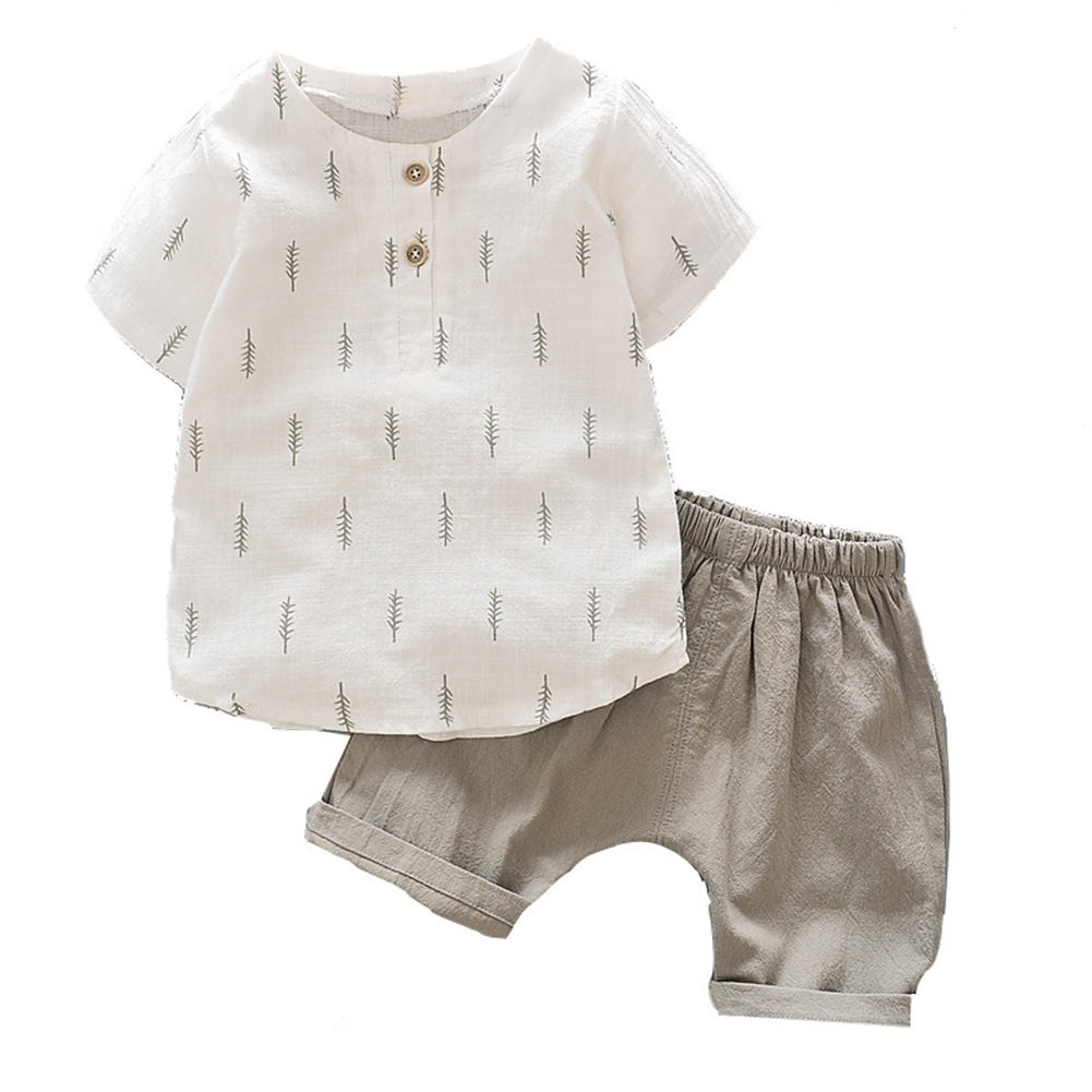Summer Boys  Infant T-Shirt Tops+Short Pants