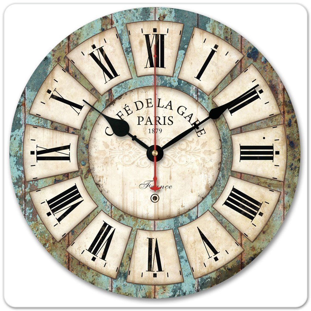 hss 12` Roman Numeral Wood Wall Clock