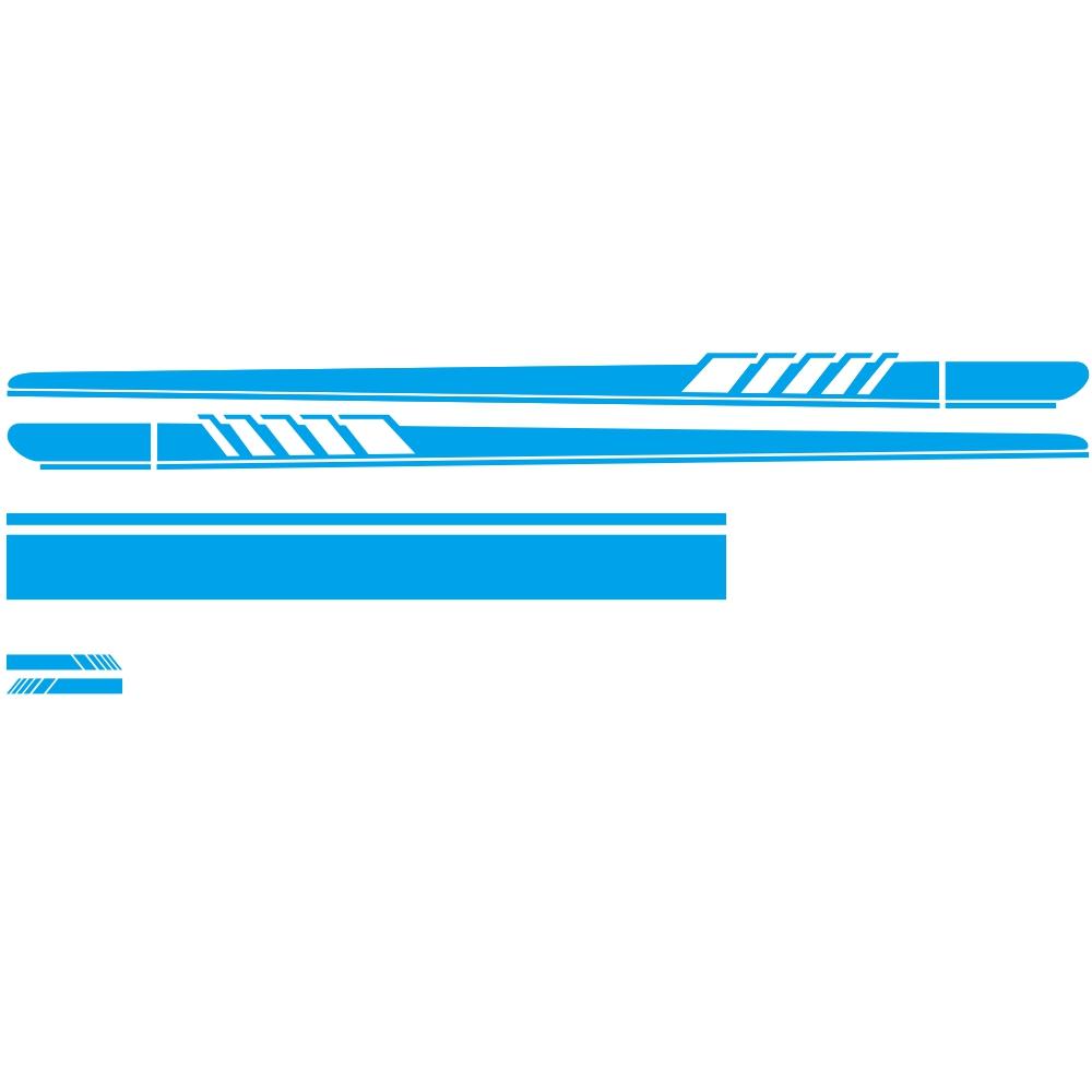 DIY Car Sticker Auto Body Decals Vinyl Side Long Stripe Waterproof Self Adhesive Stickers blue