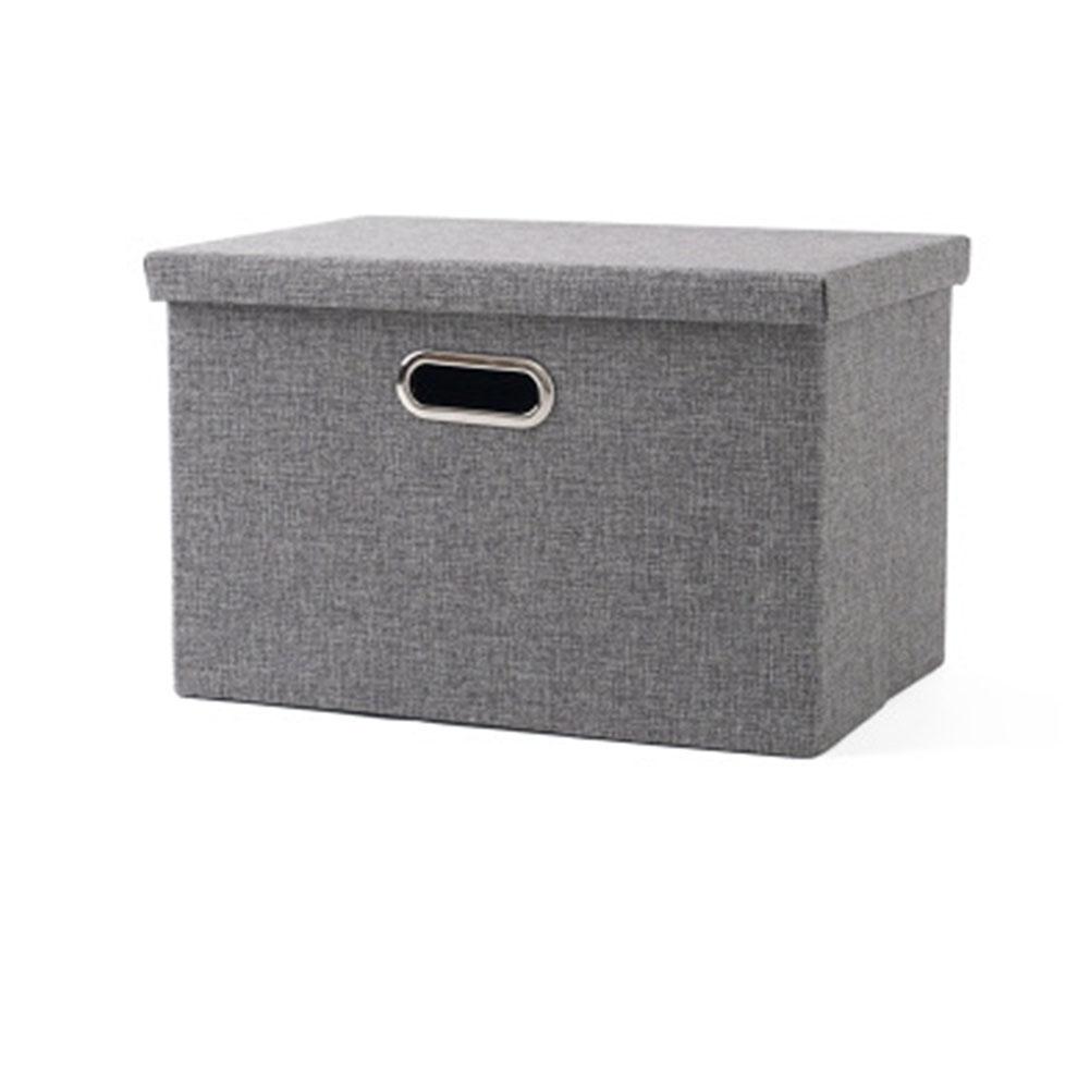 Folding Square Storage Utility Box Fabric Cube Drawer Organizer Cloth Basket Bag gray_large