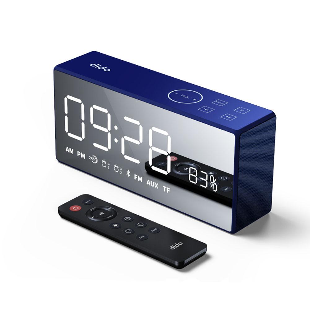 Sanag X9 Bluetooth Metal Portable Super Bass Wireless Mirror Remote Control Speaker 3D Digital Sound Loudspeaker Hands-free MIC blue