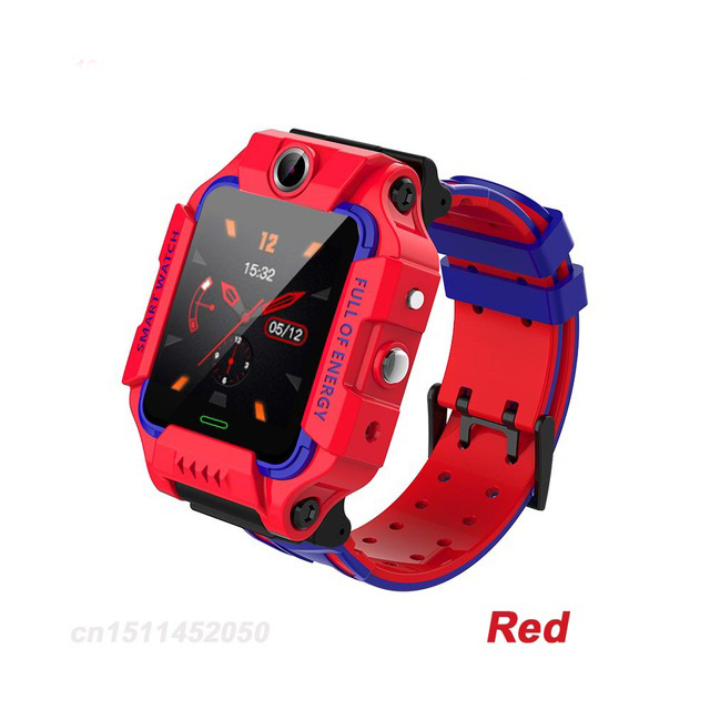 Q19 Smart Watch Children Smartwatch Camera Bracelet LBS Position Lacation Tracker SOS Anti-lost Baby Watch Voice Chat Alarm Clock red