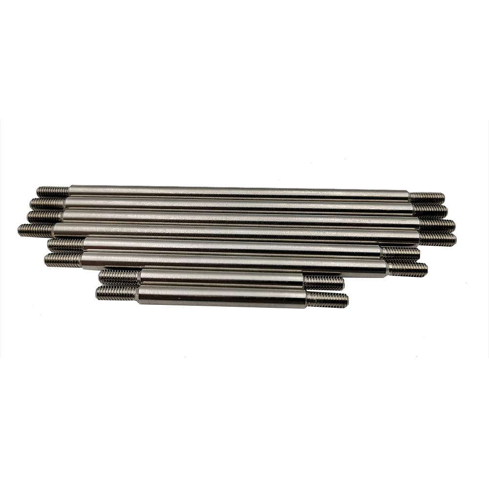 8Pcs/Set Stainless Steel Chassis Pull Rod 324 Wheelbase for 1/10 Crawler Car TRX4