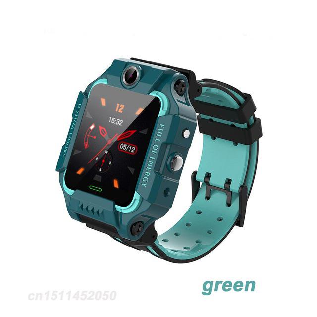 Q19 Smart Watch Children Smartwatch Camera Bracelet LBS Position Lacation Tracker SOS Anti-lost Baby Watch Voice Chat Alarm Clock green