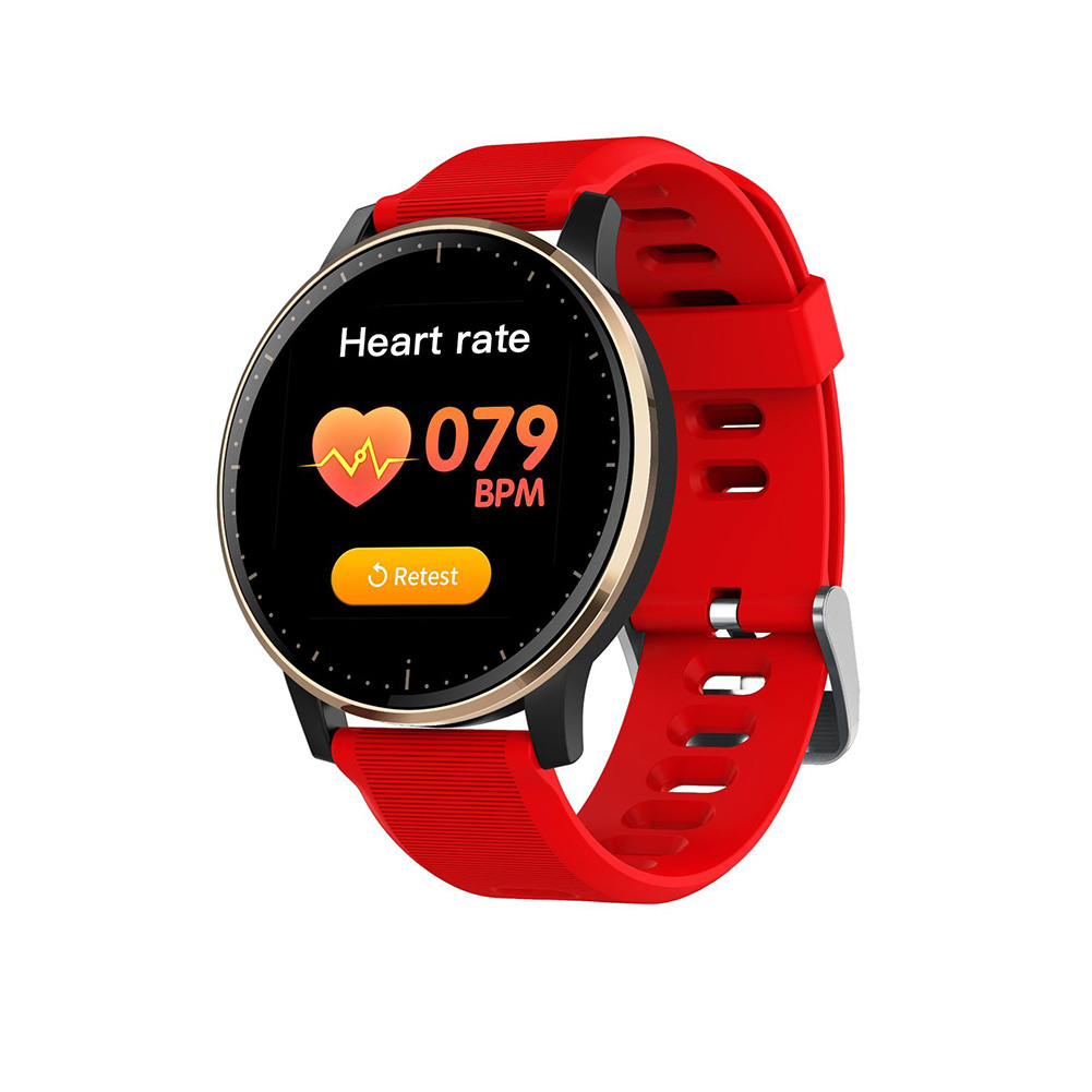 Q20 Smart Bracelet Touch Screen Heart Rate Blood Pressure Sleeping Detectiopn Sport Step Count Waterproof Big red
