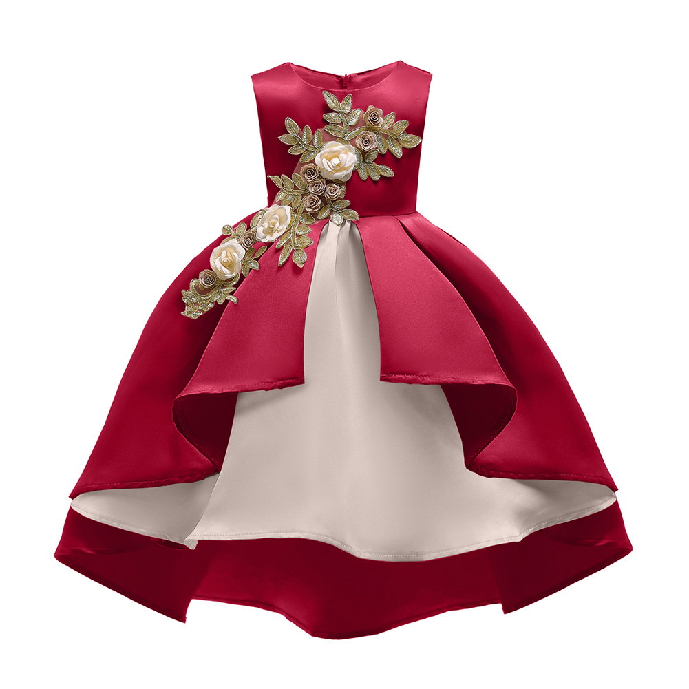 Children Girl Embroidery Princess Dress