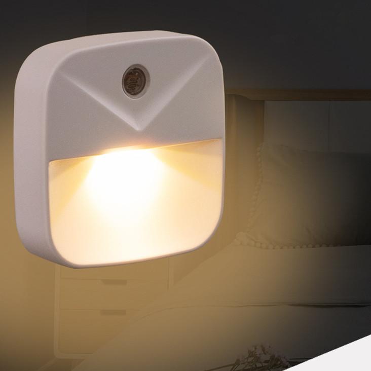 0.4W LED Intelligent Light Control Energy Saving Induction Lamp Night Light Plug Style warm light_European regulations (circular insertion)