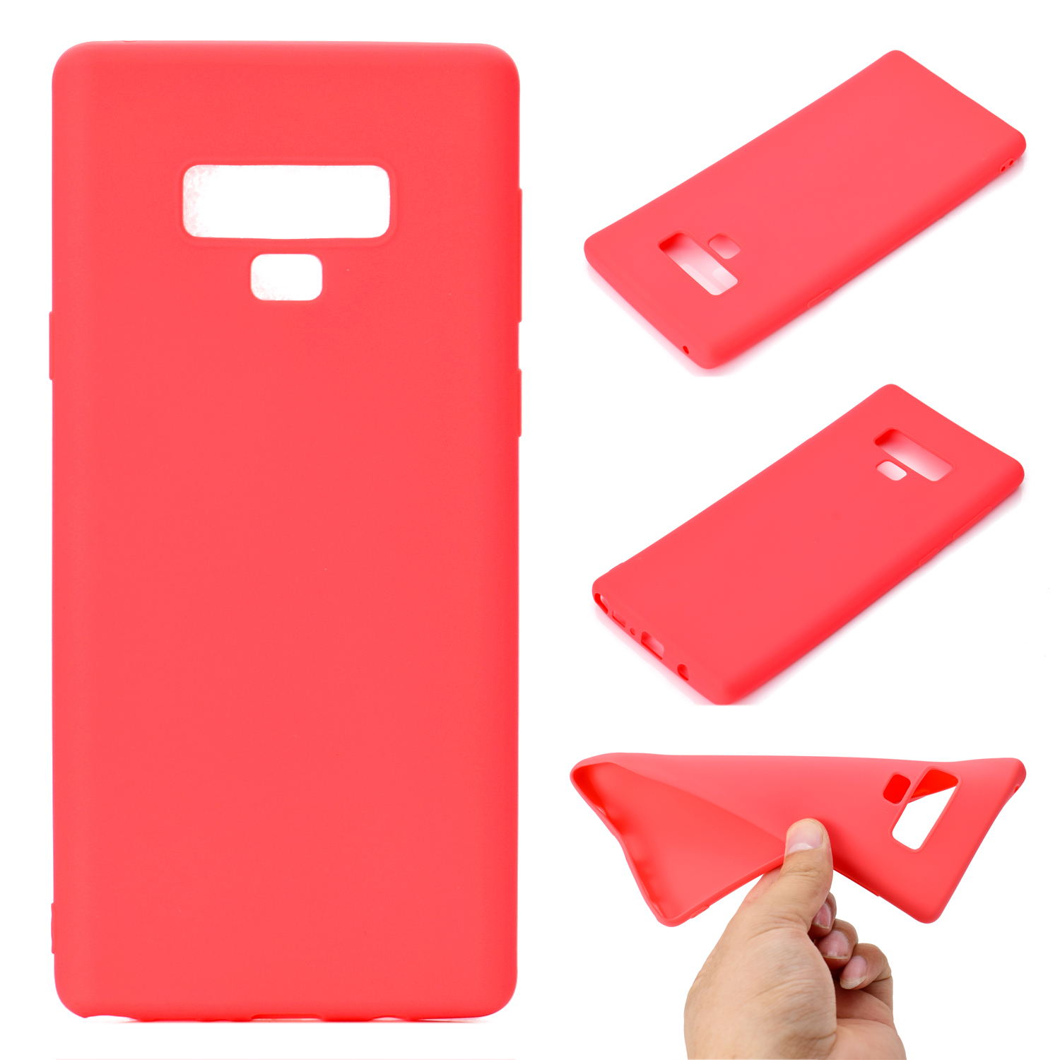 for Samsung NOTE 9 Cute Candy Color Matte TPU Anti-scratch Non-slip Protective Cover Back Case red