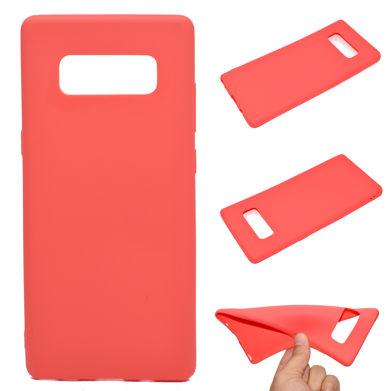 for Samsung NOTE 8 Cute Candy Color Matte TPU Anti-scratch Non-slip Protective Cover Back Case red