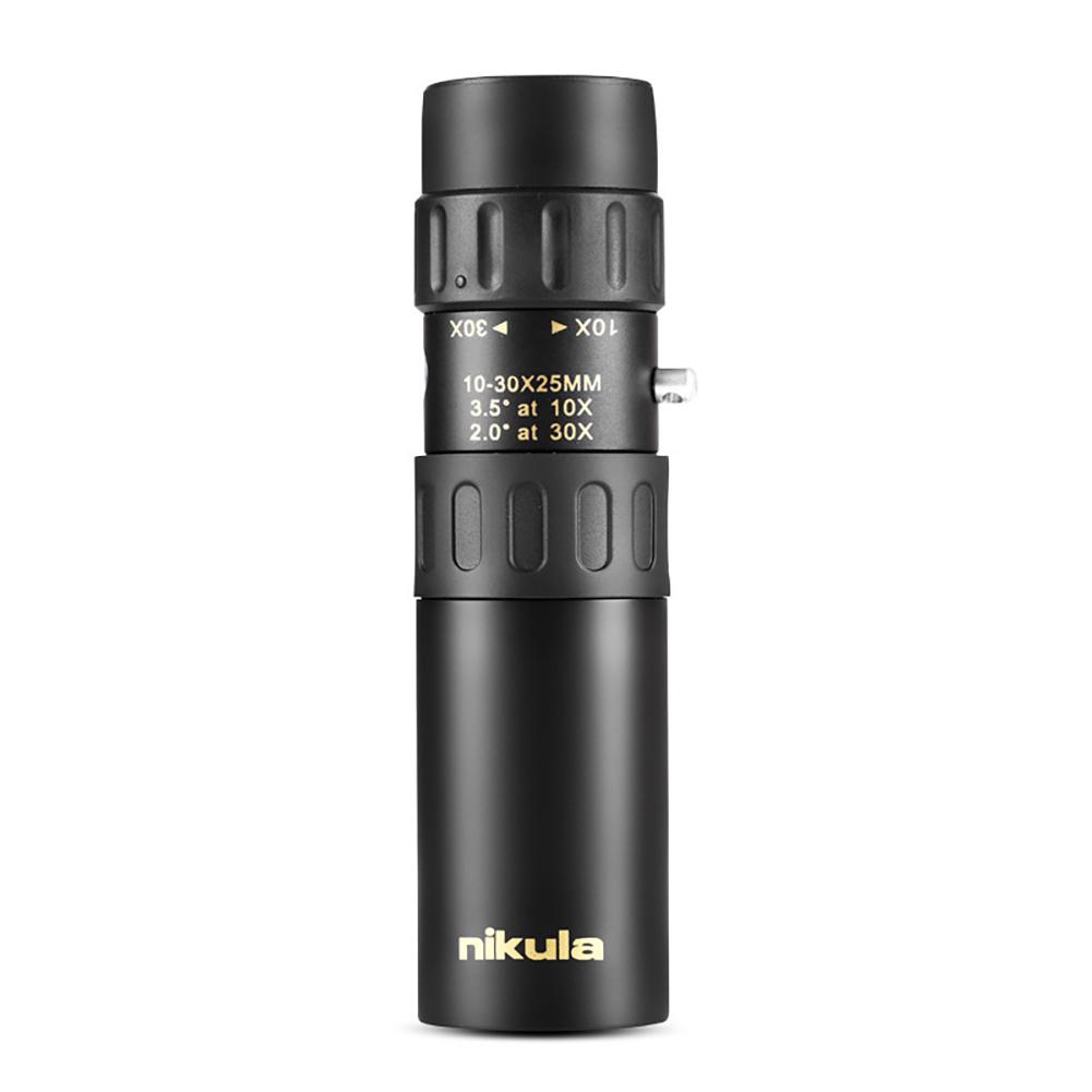 Nikula 10-30x25 Zoom Monocular Portable Telescopic Pocket Telescope  black