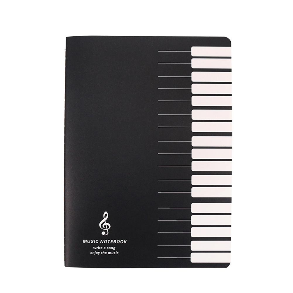 18 Sheets Music Practice Notebook Piano Violin Book Universal Five-line Notebook Random Pattern Music Practice Notebook