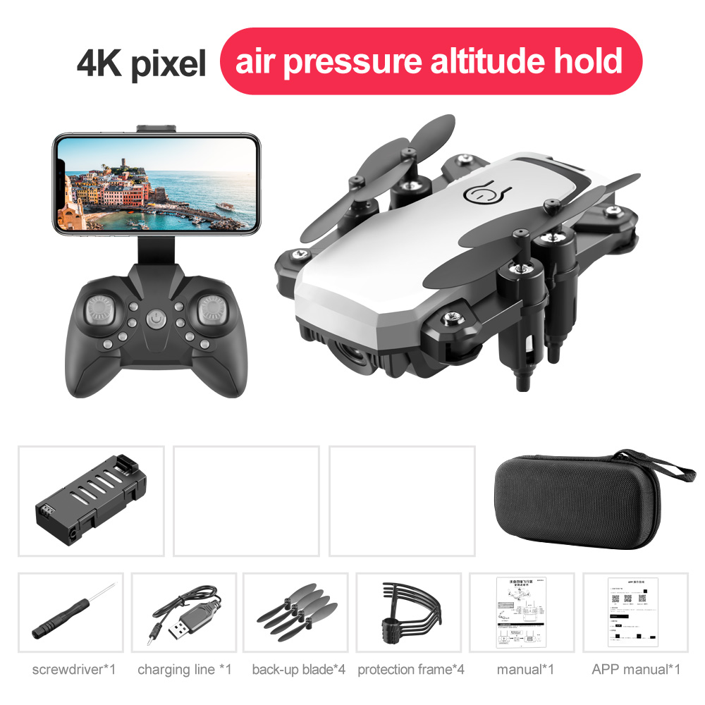 LF606 Mini Drone with Camera Altitude Hold RC Drones HD Wifi FPV Quadcopter Drone RC Helicopter 4K+ storage bag