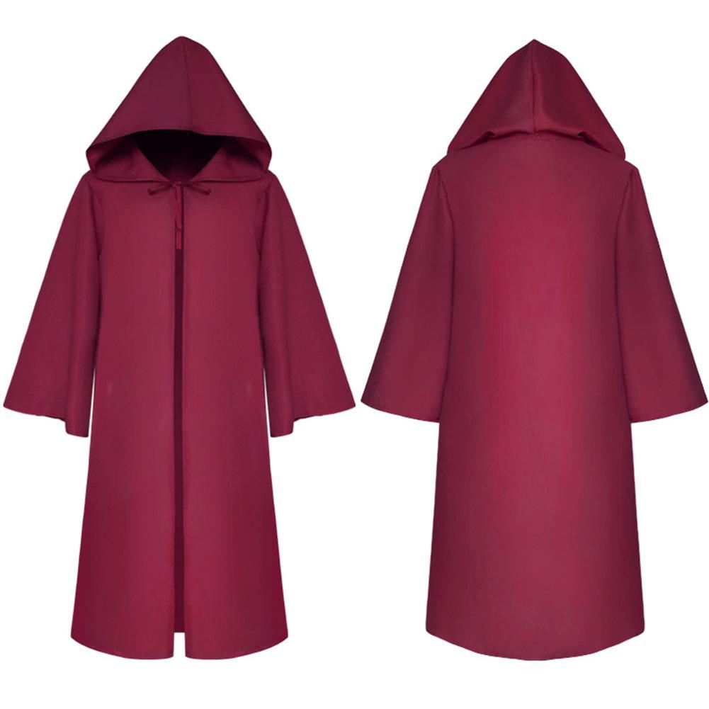 Halloween Clothing Death Cloak The Medieval Times Cloak Adult Children Goods Star Wars Cloak [Zaohong]_Adult S
