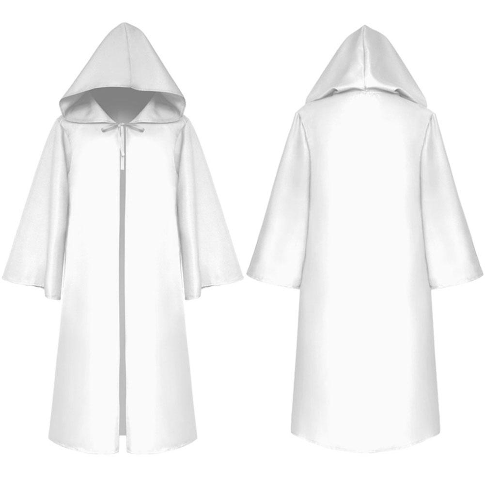 Halloween Clothing Death Cloak The Medieval Times Cloak Adult Children Goods Star Wars Cloak [White]_Adult XXL