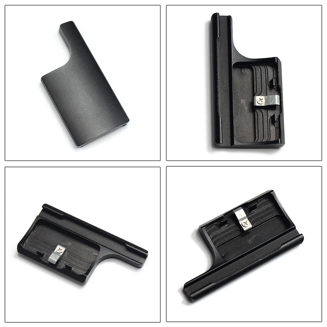 Aluminum Replacement Rear Snap Latch Waterproof Housing Buckle Lock for GoPro Hero 4 3+ black